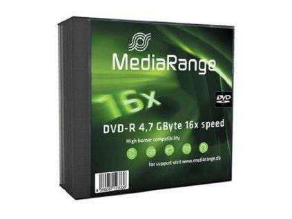 Médium MediaRange DVD-R 4,7 GB 16x slim 5pck/bal - akce do doprodání zásob