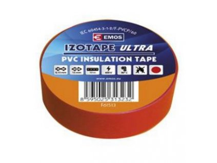 Páska izol. 15/10m PVC rudá ELEKTRA