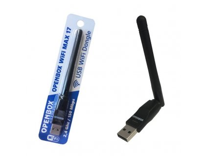 USB WiFi Dongle OPENBOX MAX 17 2,4GHz 150 Mbps s anténkou