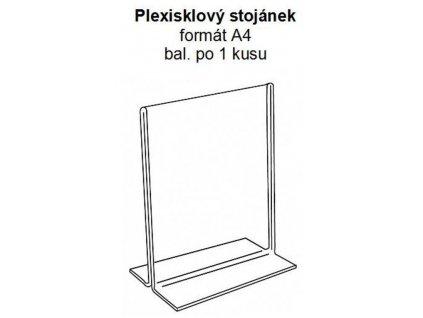 Stolní rámeček PLEXI A4, na tištěné dokumenty, transparent