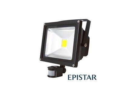 LED reflektor venkovní s PIR 30W/2500lm EPISTAR, MCOB, AC 230V, šedý