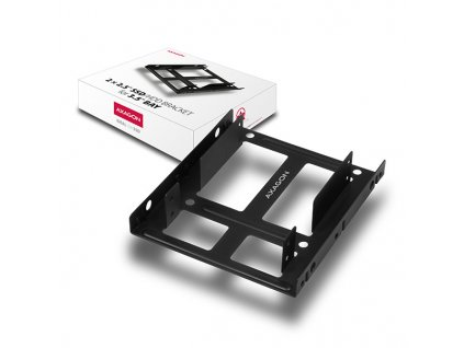 AXAGON RHD-225, kovový rámeček pro 2x 2.5'' HDD/SSD do 3.5'' pozice, montáž ventilátoru