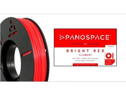 FILAMENT Panospace type: PLA -- 1,75mm, 326 gram per roll - Červená