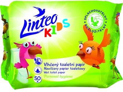 Vlhčený toaletní papír Linteo KIDS splachovatelný, 50 ks
