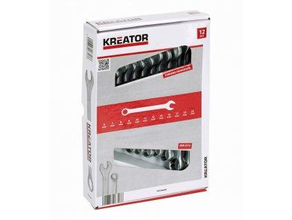 Sada klíčů Kreator KRT500009 očkoploché 8-22mm, 12ks